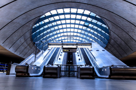 Escalators at a subway station improving accessibility