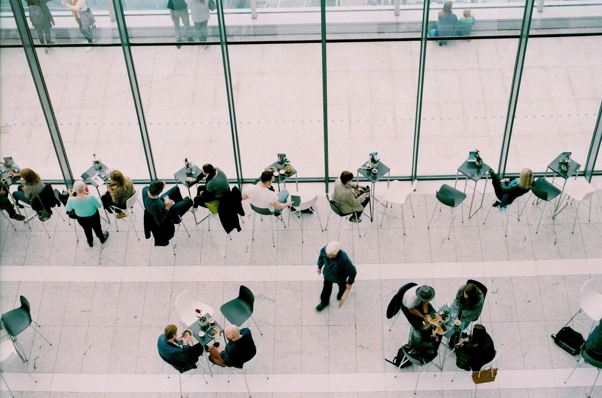 A café busy with customers